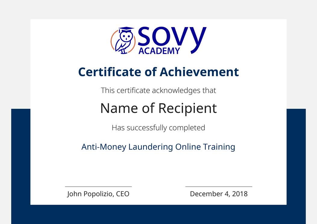 Anti-Money Laundering Online Training