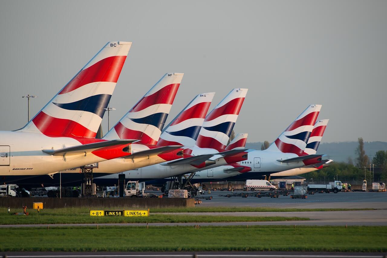 British Airways Plan Tails